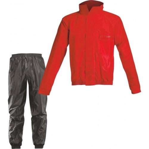 Acerbis Rain Suit Logo Red Black Rain Suit