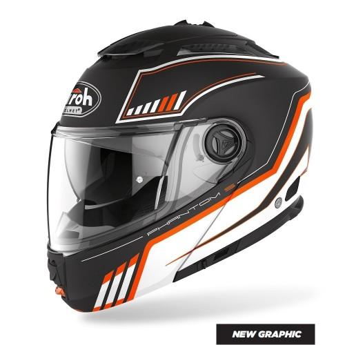 Airoh Phantom S Beat Orange Matt Helmet