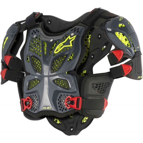 Alpinestars A-10 Full Anthracite Black Red Chest Protector