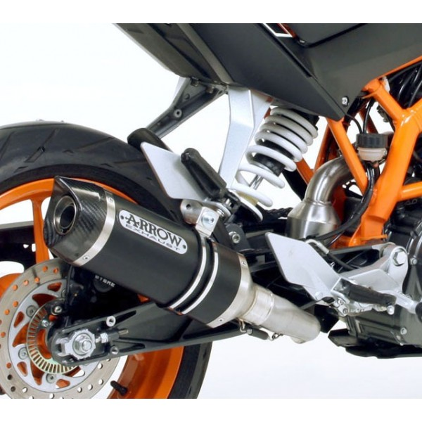 Arrow Aluminium Dark Thunder Carbon End Cap Exhaust For KTM Duke 390 20122014 Rc 2015 Part 71813akn: KTM Rc Exhaust At Woreks.co