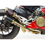 Competition Werkes GP Race Slip On Exhaust For Ducati Panigale V4 2018 Part # WDPV4R-BC