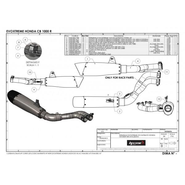 HP Corse Evoxtreme 310 Satinato For Honda CB1000R 2008-2015