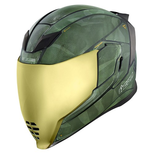 Icon Airflite Battlescar 2 - Green Helmet
