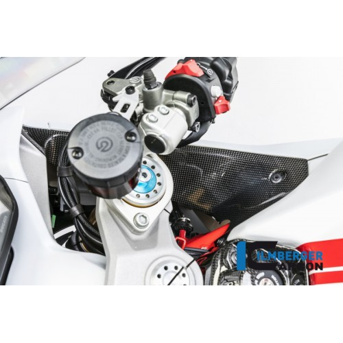 Ilmberger Carbon Airtube Cover Right Gloss Carbon For Ducati Supersport / S Part # WAR.005.DSS7G.K