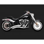 Vance & Hines Big Radius 2-Into-2 Chrome Exhaust For Harley Davidson Softail Part # 26075