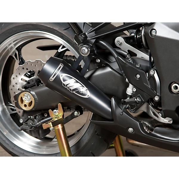 M4 Dual Black Gp Slip On Exhaust For Kawasaki Z1000 Ninja 1000