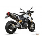 MIVV Steel Black Exhaust For Aprilia Dorsoduro 1200 2012 Part #A.010.L9