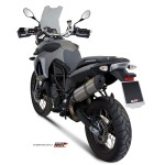 MIVV Steel Black Slip On Oval Exhaust For BMW F 800 GS 2013/F 650 GS 2012 Part #B.007.L9