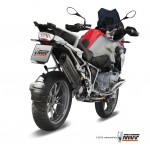 MIVV Steel Black Slip On Oval Exhaust For BMW R 1200 GS 2013 Part #B.016.L9
