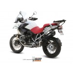 MIVV Stainless Steel Slip On Oval Exhaust For BMW R 1200 GS 2012 Part #B.012.LRX