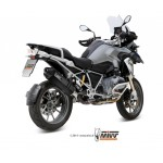 MIVV Steel Black Slip On Oval Exhaust For BMW R 1200 GS 2013 Part #B.016.LRB