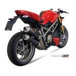 MIVV Steel Black Slip On Exhaust For Ducati Streetfighter 848 2013/Streetfighter 1098 2011 Part #D.024.LXB