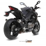 MIVV Steel Balck 2X Slip On GP Exhaust For Kawasaki Z1000 2014 Part #K.039.LXB
