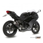 MIVV Steel Black Slip On GP Exhaust For Kawasaki Ninja 300 2013 Part #K.038.LXB
