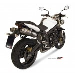 MIVV Steel Black 2X Slip On GP Exhaust For Triumph Street Triple 2013 Part #AT.009.LXB