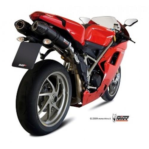 MIVV Carbon Cap Exhaust For Ducati 848 2008/ 1098 2009/ 1198 2009 Part #UD.021.L3C
