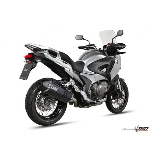 MIVV Steel Black Exhaust For Honda Crosstourer 1200 2012 Part #H.045.LRB