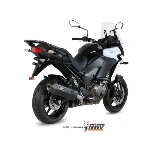MIVV Black Steel Exhaust For Kawasaki Versys 1000 2015 Part #K.040.LRB