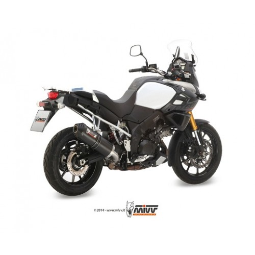 MIVV Carbon Carbon Cap Exhaust For Suzuki V-Strom 1000 2014 Part #S.042.LEC
