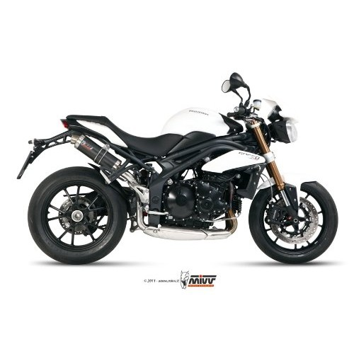 MIVV Carbon Exhaust For Triumph Speed Triple 2013 Part #AT.012.L2S