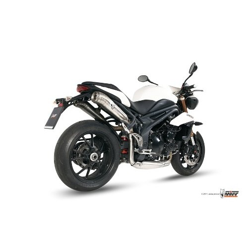 MIVV Stainless Steel Exhaust For Triumph Speed Triple 2013 Part #AT.012.LGX