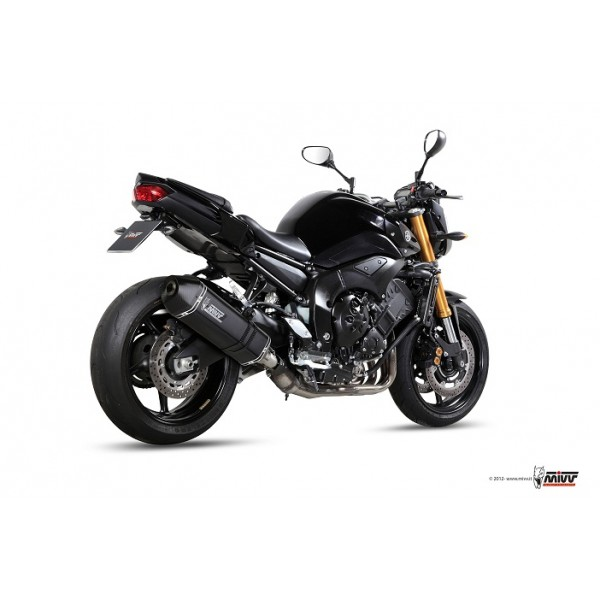 MIVV Steel Black Exhaust For Yamaha FZ8 2013 Part #Y.033.LRB