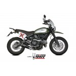 MIVV Delta Race Black Stainless Steel Exhaust Ducati Scrambler 800 2015 Part # D.035.LDRB