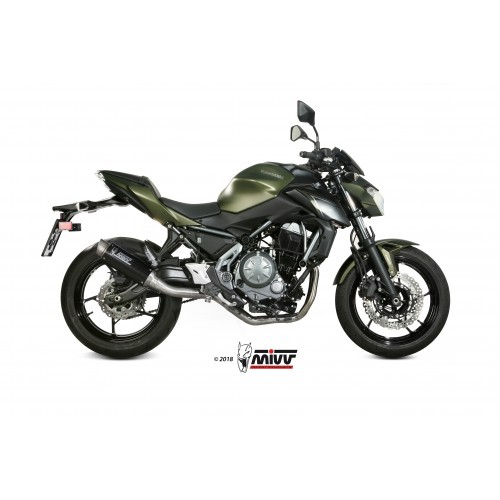 MIVV GP Pro Carbon Exhaust For Kawasaki Z650 2017 Part # K.044.L2P