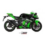 MIVV Delta Race Black Black Stainless Steel Exhaust Kawasaki Ninja ZX-10R Part # K.042.LDRB