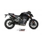 MIVV Delta Race Black Black Stainless Steel Exhaust KTM Duke 790 Part # KT.020.LDRB