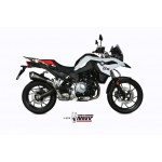 MIVV Delta Race Black Black Stainless Steel Slip-on Exhaust BMW F 750 / 850 GS Part # B.033.LDRB