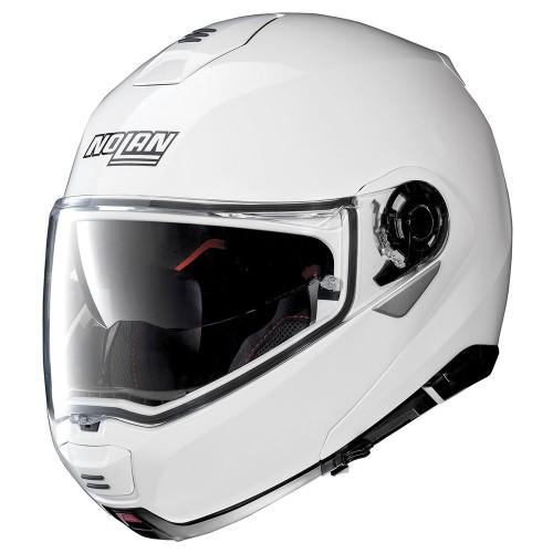 Nolan N100-5 Classic N-Com Metal White Helmet