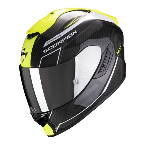 Scorpion Exo-1400 Air Carbon Beaux Black Yellow White Helmet