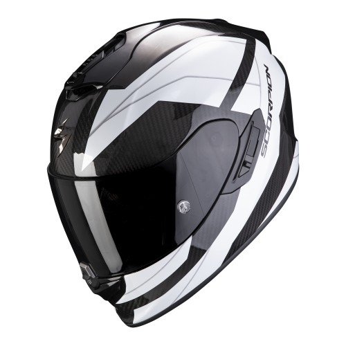 Scorpion Exo-1400 Air Carbon Legione Black White Helmet