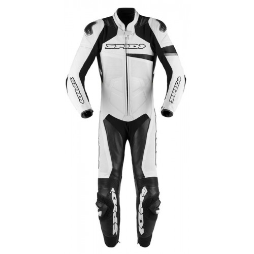 Spidi Race Warrior Perforated Leather White Black Suit