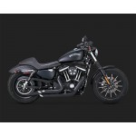 Vance & Hines Shortshots Staggered Black Exhaust For Harley Davidson Sportster 2014-2020 Part # 47229
