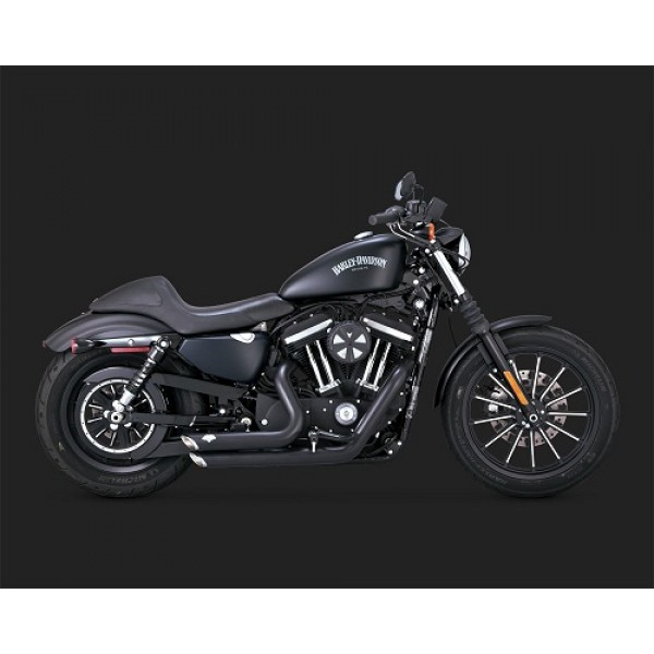 Vance & Hines Shortshots Staggered Black Exhaust For Harley Davidson