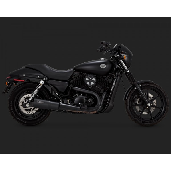Vance & Hines Black Hi-Output Slip-On Exhaust For Harley