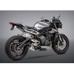 Yoshimura Street Alpha T So Ss-ss-cf Works Finish For Triumph Street Triple 765 S / RS 2018 Part # 19680BP520