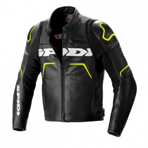 Spidi Evorider 2 Black Fluo Yellow Leather Jacket