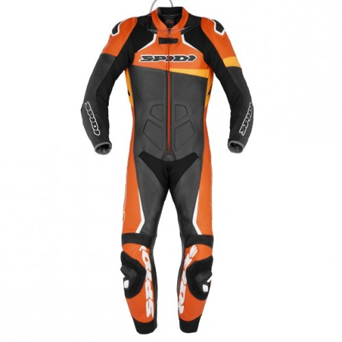 Spidi Race Warrior Perforated Leather Black Orange Suit